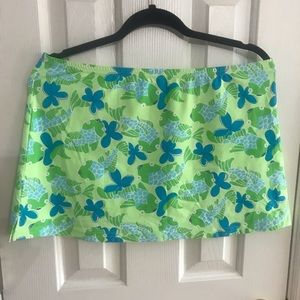 Vintage Lilly Pulitzer swim skirt coverup